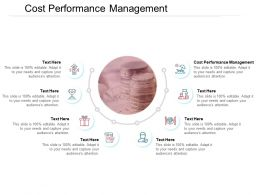 Cost Performance Management Ppt Powerpoint Presentation Pictures Vector Cpb