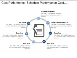 Cost Performance Schedule Performance Cost Variance Schedule Variance