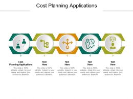 Cost Planning Applications Ppt Powerpoint Presentation Layouts Mockup Cpb