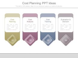 Cost Planning Ppt Ideas