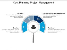Cost Planning Project Management Ppt Powerpoint Presentation Icon Brochure Cpb