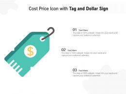 Cost Price Icon With Tag And Dollar Sign