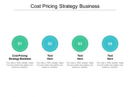 Cost Pricing Strategy Business Ppt Powerpoint Presentation Icon Diagrams Cpb