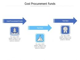Cost Procurement Funds Ppt Powerpoint Presentation Professional Graphics Download Cpb