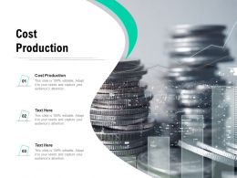 Cost Production Ppt Powerpoint Presentation Icon Graphics Cpb