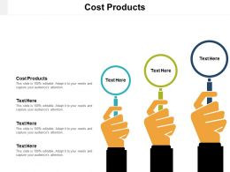 Cost Products Ppt Powerpoint Presentation File Samples Cpb