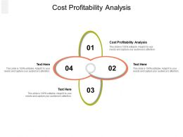 Cost Profitability Analysis Ppt Powerpoint Presentation Model Smartart Cpb