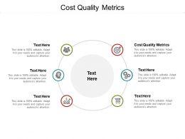 Cost Quality Metrics Ppt Powerpoint Presentation Professional Slide Portrait Cpb
