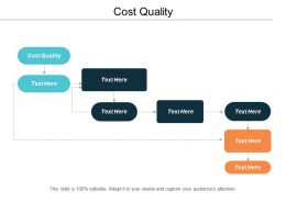 Cost Quality Ppt Powerpoint Presentation Slides Microsoft Cpb