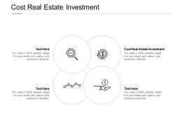Cost Real Estate Investment Ppt Powerpoint Presentation Inspiration Structure Cpb