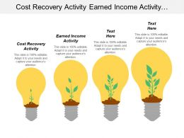 Cost Recovery Activity Earned Income Activity Window Opportunity