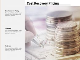 Cost Recovery Pricing Ppt Powerpoint Presentation Infographic Template Graphic Images Cpb