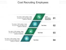 Cost Recruiting Employees Ppt Powerpoint Presentation Outline Visual Aids Cpb