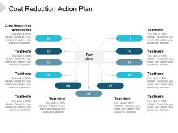 Cost Reduction Action Plan Ppt Powerpoint Presentation Infographics Pictures Cpb