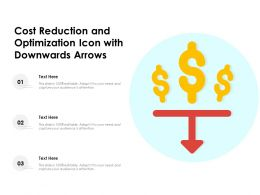 Cost Reduction And Optimization Icon With Downwards Arrows