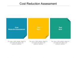 Cost Reduction Assessment Ppt Powerpoint Presentation Infographic Template Vector Cpb