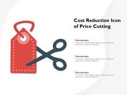 Cost Reduction Icon Of Price Cutting