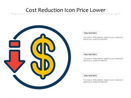 Cost Reduction Icon Price Lower
