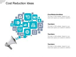 Cost Reduction Ideas Ppt Powerpoint Presentation Icon Example File Cpb