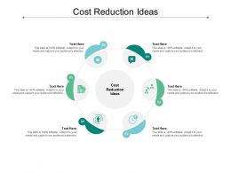 Cost Reduction Ideas Ppt Powerpoint Presentation Visual Aids Model Cpb