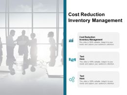 Cost Reduction Inventory Management Ppt Powerpoint Presentation Portfolio Cpb