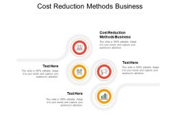 Cost Reduction Methods Business Ppt Powerpoint Presentation Infographic Template Outline Cpb