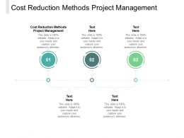 Cost Reduction Methods Project Management Ppt Powerpoint Presentation Layouts Infographics Cpb