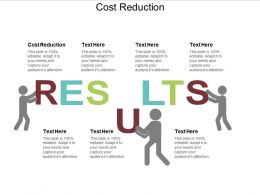 Cost Reduction Ppt Powerpoint Presentation Gallery Slides Cpb