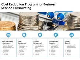 Cost Reduction Program For Business Service Outsourcing