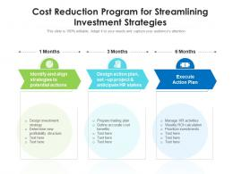 Cost Reduction Program For Streamlining Investment Strategies