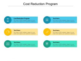 Cost Reduction Program Ppt Powerpoint Presentation Icon Topics Cpb