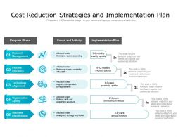 Cost Reduction Strategies And Implementation Plan