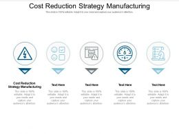 Cost Reduction Strategy Manufacturing Ppt Powerpoint Presentation Model Template Cpb