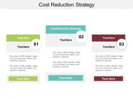 Cost Reduction Strategy Ppt Powerpoint Presentation Pictures Graphic Images Cpb