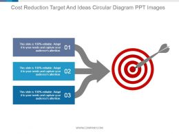 Cost Reduction Target And Ideas Circular Diagram Ppt Images