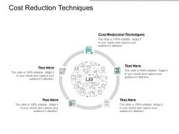 Cost Reduction Techniques Ppt Powerpoint Presentation Portfolio Design Ideas Cpb