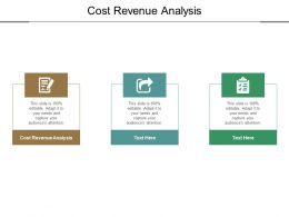 Cost Revenue Analysis Ppt Powerpoint Presentation Model Styles Cpb