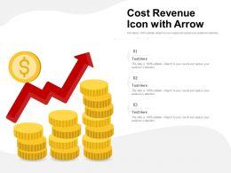 Cost Revenue Icon With Arrow