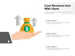 Cost Revenue Icon With Hand