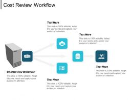 Cost Review Workflow Ppt Powerpoint Presentation Inspiration Clipart Images Cpb