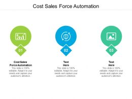 Cost Sales Force Automation Ppt Powerpoint Presentation Ideas Templates Cpb