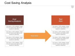 Cost Saving Analysis Ppt Powerpoint Presentation Infographic Template Guide Cpb