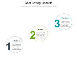 Cost Saving Benefits Ppt Powerpoint Presentation Portfolio Topics Cpb