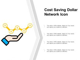 Cost Saving Dollar Network Icon