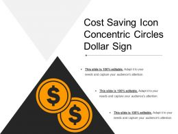 Cost Saving Icon Concentric Circles Dollar Sign
