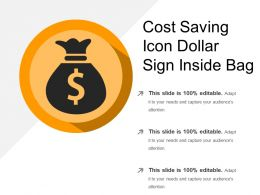 Cost Saving Icon Dollar Sign Inside Bag
