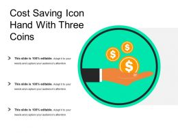 Cost Saving Icon Hand With Three Coins
