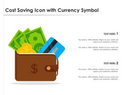 Cost Saving Icon With Currency Symbol