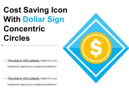 Cost Saving Icon With Dollar Sign Concentric Circles