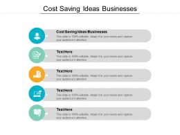 Cost Saving Ideas Businesses Ppt Powerpoint Presentation Summary Graphics Pictures Cpb